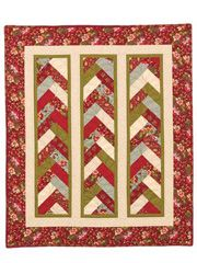 Annie's Braid in a Day quilt pattern made with a jelly roll of Fellowship by Moda.