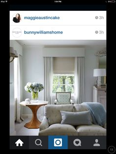 Calm traditional living room in a neutral colour palette. Full length curtains a 2019 Calm traditional living room in a neutral colour palette. Bedroom Curtains With Blinds, Curtains Living, Grey Curtains, Bedroom Windows, Living Room Windows, My Living Room, Living Room Decor, Curtain Pelmet, Drapery Panels
