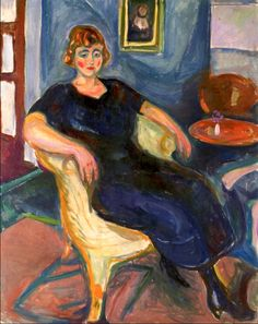 Model in Wicker Chair  Edvard Munch - 1924-1925