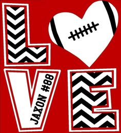 football chevron love t shirt football mom shirt football sister football grandma