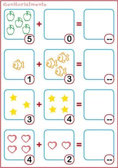 Teaching cards first grade addition to print Grade R Worksheets, Kindergarten Math Worksheets, Preschool Printables, Preschool Math, Math Classroom, In Kindergarten, Math Boards, Fun Math Activities, Math Numbers