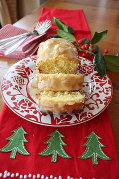 Eggnog bread - eggnog, French vanilla pudding and spiced rum - then topped with a spiced rum glaze - Bring it on!