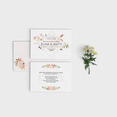 Wedding Invitation Romantic Bloom #wedding #print #invitation #design #hääkutsut #häät #savethedate #kutsu