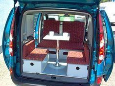 C-tech: Campingvan - Minicamper - Renault Kangoo - Camper, Camping (Diy Tech Ideas) Travel Camper, Mini Camper, Camper Life, Truck Camper, Minivan Camping, Renault Kangoo Camper, Berlingo Camper, Peugeot, Minivan Camper Conversion