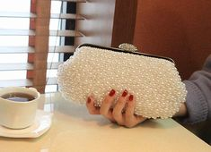 Wedding Jacket, Wedding Bag, Fashion Beads, Wholesale Handbags, Clutch, Louis Vuitton Speedy Bag, Coin Purse, Delicate, Pearls