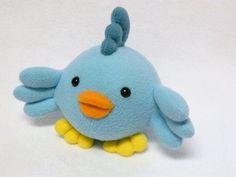Plush baby bird stuffed animal by mamamayberrys on Etsy