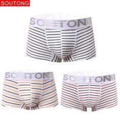 Soutong Male Underwear 3 Pcs/lot Cotton Men Underwear Cueca Boxers Calzoncillos Hombre Underpants Underwear Men Boxers st21