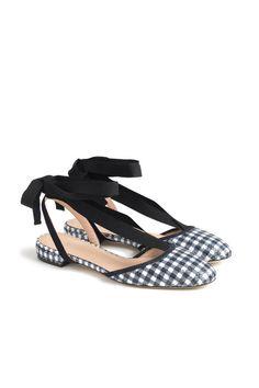 Actual proper shoes that come with bonus ankle ribbons. $138, jcrew.com.