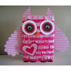 This pinata will be so cute for an owl valentine box!