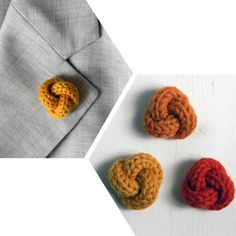 Boutonniere : noeud en laine