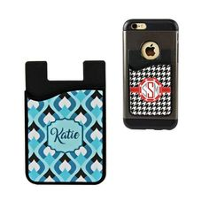 We sell a lot of personalized phone cases here at Mean Street Graphix. Both online and in our shop, phone cases are our number one seller. Occasionally we have customers that already have a phone case they like, or have a mobile device model that we don't carry. Until now, we've been unable to provide them with a solution. But, we are happy to announce a new product that we are currently offering. We now have a Personalized Card Caddy for your Smart Phone or Mobile Device.
