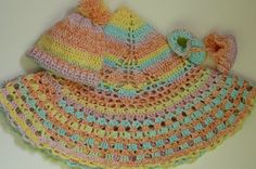 Crocheted Baby Circular Blanket Hat and Booties by fashionablekids, $75.00