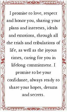 Wedding Vow Ideas Google Search Officiant Vows Wishes