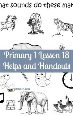 LDS Lesson helps and handouts for Primary 1 Lesson 18: I am thankful for my ears