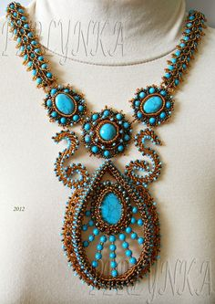 Turquoise and chocolate...