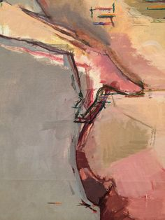 """""""Euan Uglow close up #painting @HepworthGallery. Drawing in painting"""""""