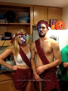 Easy Badass Braveheart Couple Costume... Coolest Halloween Costume Contest