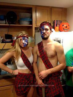 Easy Badass Braveheart Couple Costume... Coolest Halloween Costume Contest