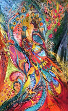 View Elena Kotliarker's Artwork on Saatchi Art. Find art for sale at great prices from artists including Paintings, Photography, Sculpture, and Prints by Top Emerging Artists like Elena Kotliarker. Peacock Painting, Peacock Art, Love Painting, Inspiration Artistique, Z Arts, Tropical Art, Jewish Art, Art Plastique, Fractal Art