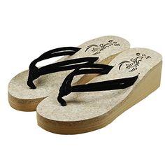 335850572657 Voberry Women Summer Beach Sandal Platform Wedges Flip Flops Home Slippers  Shoes 39 Black  gt