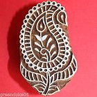 Hand Carved Paisley Leaf Indian Printing...