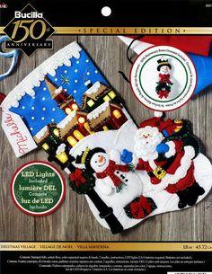 Bucilla Christmas Village  18 Felt Stocking Kit 86818