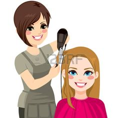 Illustration of Beautiful hairdresser working drying and combing hair of customer woman vector art, clipart and stock vectors. Recurring Dreams, Cute Girl Drawing, Cute Love Cartoons, Ideias Diy, Beauty Shop, Fashion Sketches, Girly Things, Hairdresser, Cute Girls