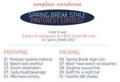Sunglass Warehouse Pinterest Contest