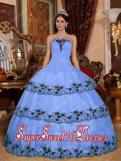 Lilac Ball Gown Strapless With Floor-length Organza Lace Appliques For Sweet 16