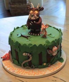 Gruffalo cake Cupcakes, Cupcake Cakes, Zoes Fancy Cakes, Gruffalo Party, Jungle Cake, 3rd Birthday Cakes, Superhero Cake, Novelty Cakes, Creative Cakes