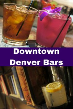 Five fun downtown Denver bars serving trendy beer cocktails, cocktails with unusual ingredients like prickly pear and root beer, and cocktails paired with pie. #Denver #Colorado