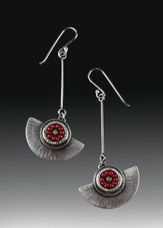 Linda Marco......Connie Fox: The red gives a focal point for these earrings.
