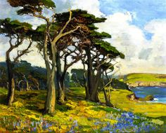The Athenaeum - Monterey Shore in Springtime (Franz Bischoff - No dates listed)