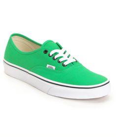 VANS Vans Authentic Bright Green Shoe