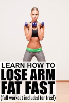 Want to lose arm fat FAST? This at-home workout video will target & tone your shoulders biceps & triceps. I cant say youll see significant results in a week but I definitely saw a difference within a month of doing this workout every single Reduce Arm Fat, Burn Arm Fat, Lose Arm Fat Fast, Fat To Fit, Lose Belly Fat, Lose Fat, How To Lose Weight Fast, Fitness Workouts, Exercise Fitness