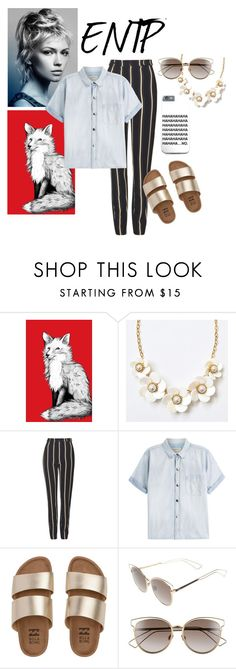 """""""ENTP personality type inspired outfit"""" by mariah-turco on Polyvore featuring Topshop, Current/Elliott, Billabong, Christian Dior, outfit, Inspired, outfits, aesthetic and ENTP"""