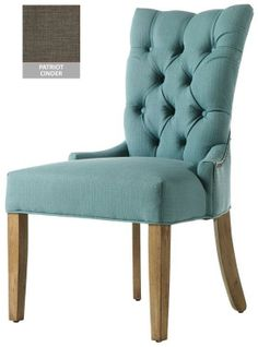 Custom Button Tufted Back Dining Chair