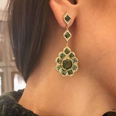 Emerald city: add a little romance to your winter wardrobe with earrings by @jamiewolfjewelry.