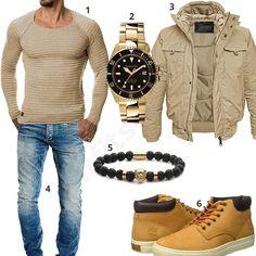Männer-Style mit Pullover, Bomberjacke und Automatikuhr (m0934) #uhr #gigandet #pullover #bomberjacke #outfit #style #herrenmode #männermode #fashion #menswear #herren #männer #mode #menstyle #mensfashion #menswear #inspiration #cloth #ootd #herrenoutfit #männeroutfit