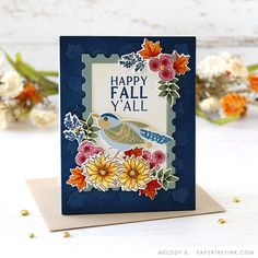 Leaf Cards, Bird Cards, Pumpkin Bouquet, Mini 14, Fall Bouquets, Leaf Background, Happy Fall Y'all, Thanksgiving Cards, Fall Cards