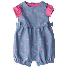 JUST ONE YOU® Made by Carters Infant Girls Romper Set - Pink/Denim