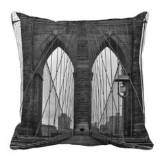 The Brooklyn Bridge in New York City Pillows
