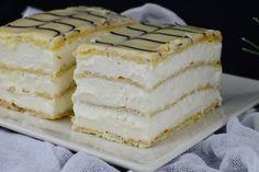 Mille-feuille (prajitura Napoleon) - CAIETUL CU RETETE Romanian Desserts, Napoleon, Vanilla Cake, Food, Essen, Meals, Yemek, Eten