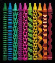 Crayon carvings