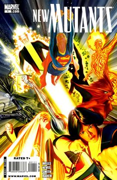 Mashed covers: New Mutants #1 & Supergirl #35. Alex Ross