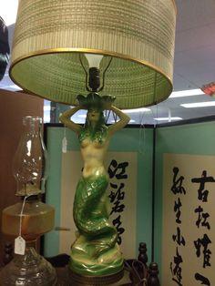 Vintage mermaid lamp....drooool....