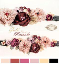 SALE 15% off, Marsala floral Sash, Mother Day Gift, Pregnancy photo shooting flower belt