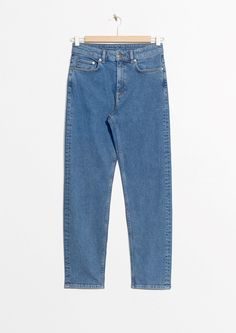 & Other Stories image 1 of Straight Denim Jeans in Dark Blue