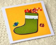 Paper Quilling Quilled Card Christmas Card by PaperSimplicity