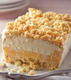 Desserts with ice cream   קינוח שכבות ללא אפיה